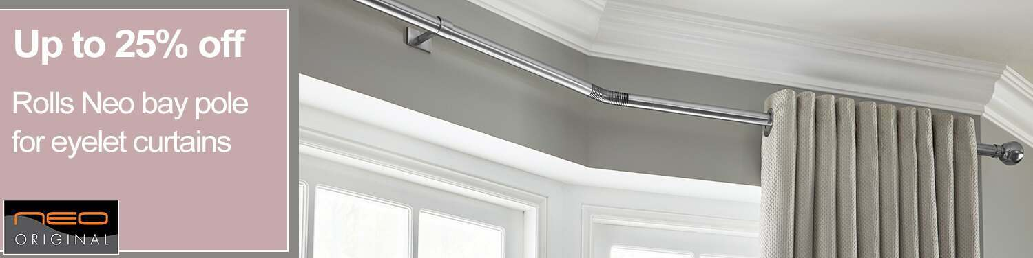5 sided bay window curtain pole for eyelet curtains www. Black Bedroom Furniture Sets. Home Design Ideas
