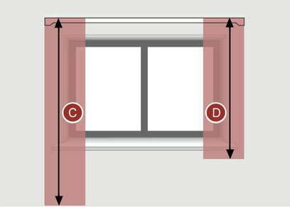 how to measure for the length of pencil pleat curtains for a curtain track
