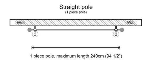 Create your own Galleria 35mm 1 piece pole section