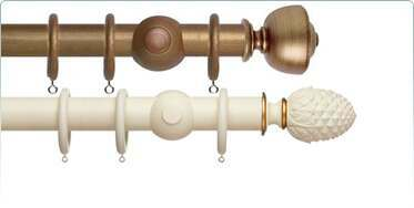 Special effect and painted finish curtain poles